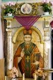 Icone nel vecchio tempio Immagini Stock