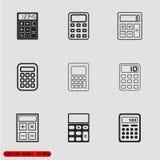 Icone nere del calcolatore di vettore messe Fotografie Stock