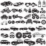 Icone nere dell'automobile illustrazione vettoriale
