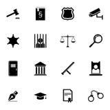 Icone nere della giustizia di vettore messe royalty illustrazione gratis