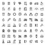 Icone nere di energia di vettore messe Fotografia Stock