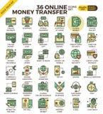 Icone online di pagamento Fotografia Stock