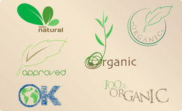 Icone organiche illustrazione di stock