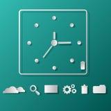 Icone orologio di Infographics e web design delle icone Fotografia Stock Libera da Diritti