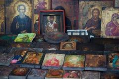Icone ortodosse antiche Immagini Stock Libere da Diritti
