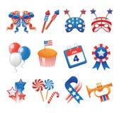 Icone patriottiche di U.S.A. Fotografia Stock