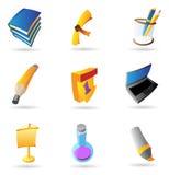 Icone per formazione Immagine Stock Libera da Diritti