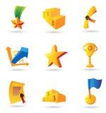 Icone per i premi Immagini Stock
