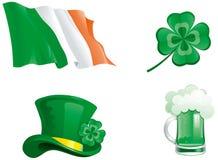 icone per il giorno della st Patricks Fotografia Stock