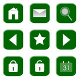 Icone per il Web site ed il Internet immagini stock libere da diritti