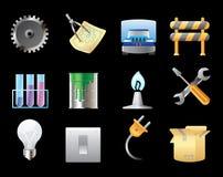 Icone per industria Fotografia Stock Libera da Diritti