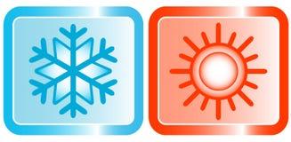 Icone per l'argomento dei condizionatori Immagine Stock