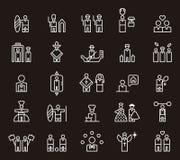 Icone per la gente differente Fotografia Stock Libera da Diritti