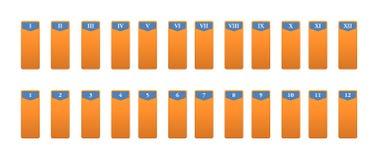 Icone per la rappresentazione dei numeri con i numeri romani Fotografia Stock Libera da Diritti