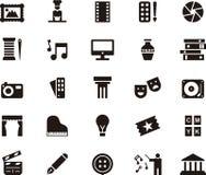 Icone per le arti Fotografia Stock