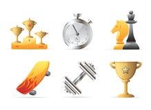 Icone per lo sport illustrazione vettoriale