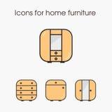 Icone per mobilia domestica Fotografia Stock Libera da Diritti