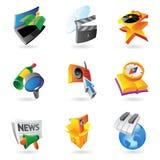 Icone per svago Fotografie Stock Libere da Diritti