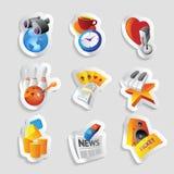 Icone per svago Immagine Stock Libera da Diritti