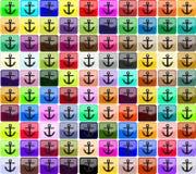 Icone per un sito Fotografia Stock