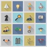 Icone piane illustrazione di stock