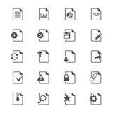 Icone piane del documento Fotografia Stock