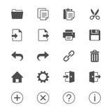 Icone piane della barra degli strumenti di applicazione Fotografia Stock