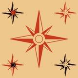 Icone piane delle bussole messe Illustrazione di vettore Immagine Stock Libera da Diritti