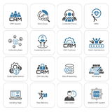 Icone piane di affari di progettazione messe royalty illustrazione gratis