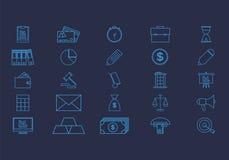 Icone piane di affari messe Fotografia Stock Libera da Diritti