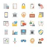 Icone piane di affari Startup e nuovi messe illustrazione vettoriale