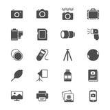 Icone piane di fotografia Immagini Stock Libere da Diritti