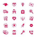 Icone piane di giorno di biglietti di S. Valentino Immagine Stock