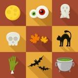 Icone piane di Halloween Immagini Stock Libere da Diritti