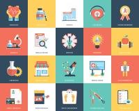 Icone piane di medico e di salute illustrazione di stock
