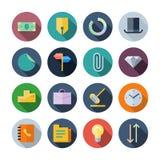 Icone piane di progettazione per l'affare illustrazione vettoriale