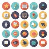 Icone piane di progettazione per l'affare e la finanza Immagini Stock
