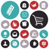 Icone piane di progettazione per l'affare e la finanza Immagine Stock