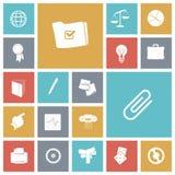 Icone piane di progettazione per l'affare e la finanza illustrazione di stock
