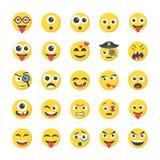 Icone piane di smiley royalty illustrazione gratis