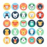 Icone piane 2 di vettore degli avatar animali royalty illustrazione gratis