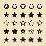Icone piane di vettore della stella Immagini Stock Libere da Diritti