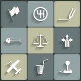 Icone piane di vettore universale Fotografia Stock