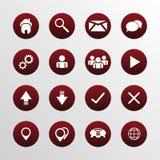 Icone piane di web design messe Fotografia Stock Libera da Diritti