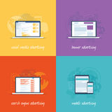 Icone piane di web design per il conce di vendita di Internet Immagini Stock