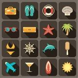 Icone piane messe per il web Immagine Stock