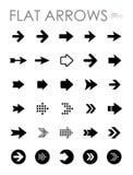Icone piane messe, progettazione moderna della freccia Immagine Stock