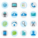 Icone piane per l'illustrazione di vettore delle icone di web e delle icone di Internet Fotografia Stock