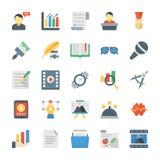 Icone piane trattate creative di vettore illustrazione di stock