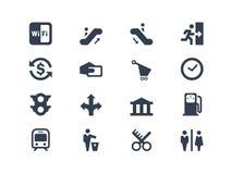 Icone pubbliche Immagini Stock Libere da Diritti